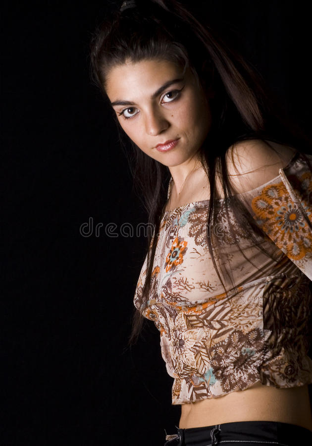 женщина брюнет Стоковые Изображения RF