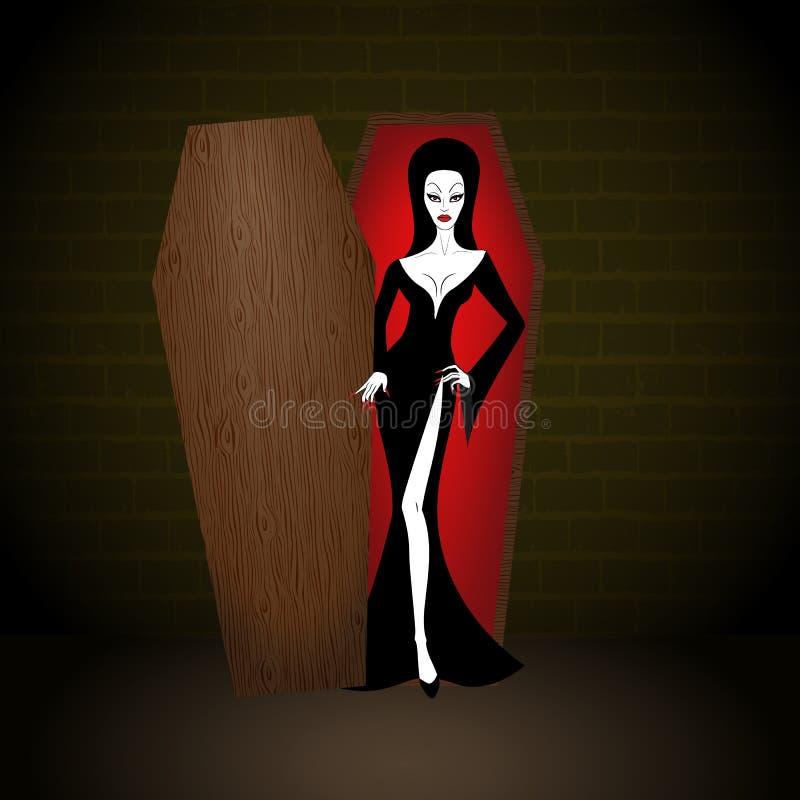 Женщина вампира иллюстрация вектора
