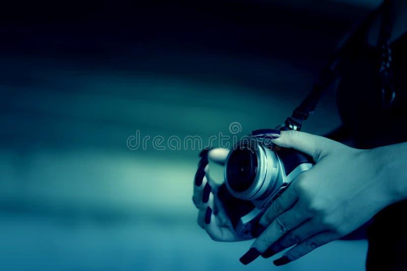 Женщина вампиров в осадке унылой стоковая фотография rf
