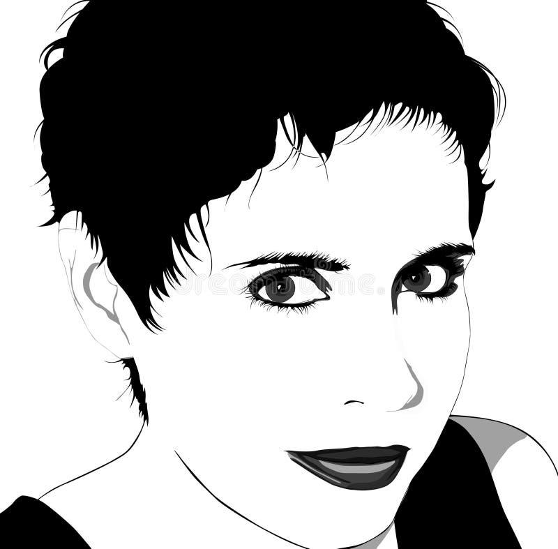женщина вектора волос короткая иллюстрация штока