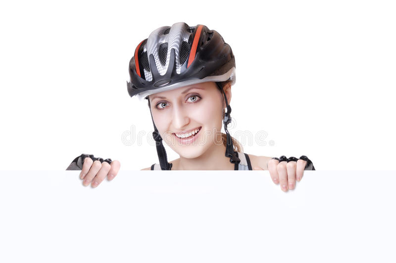 женщина велосипедиста стоковые фотографии rf