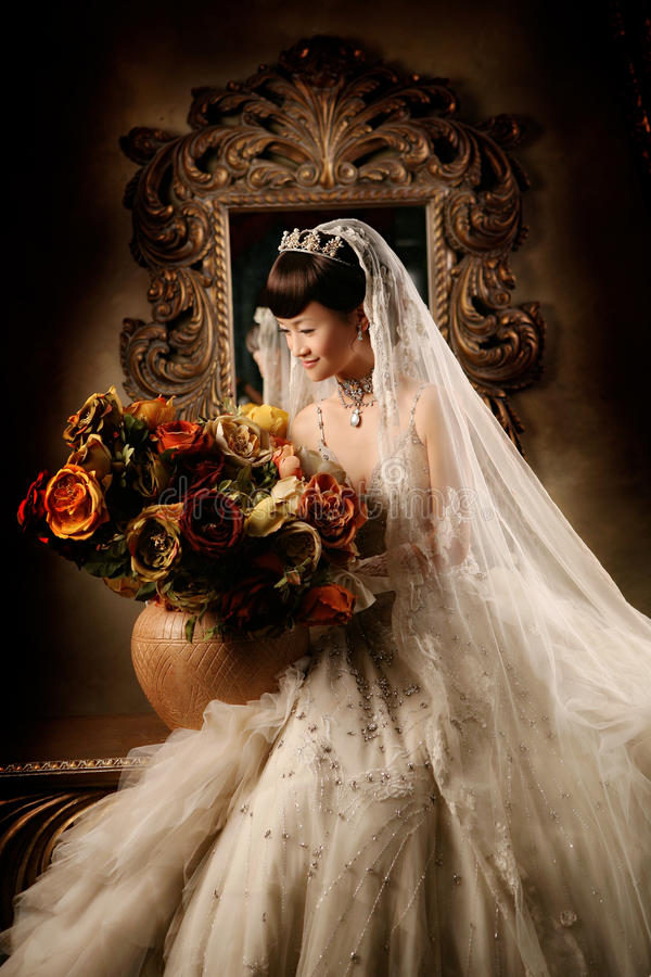 женщина венчания портрета стоковое фото rf