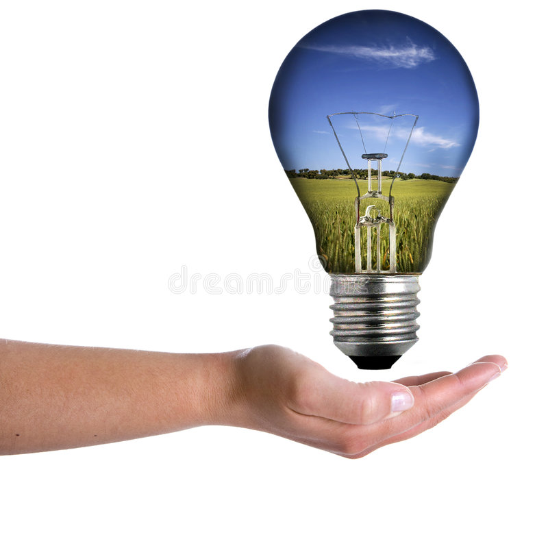женщина весны ландшафта удерживания руки шарика стоковое фото rf