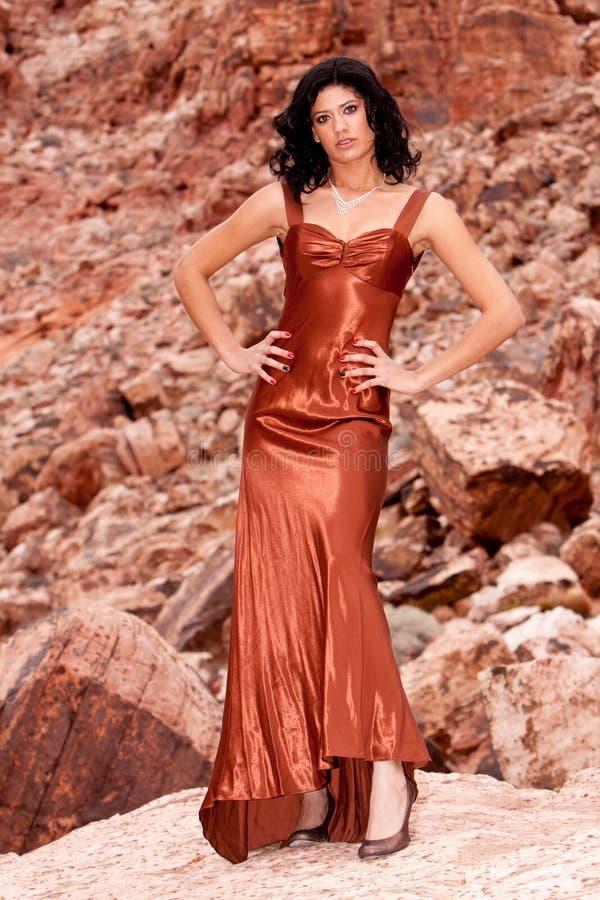 женщина вечера платья стоковые изображения