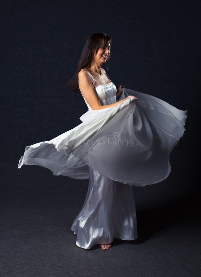 женщина вечера платья стоковые изображения rf