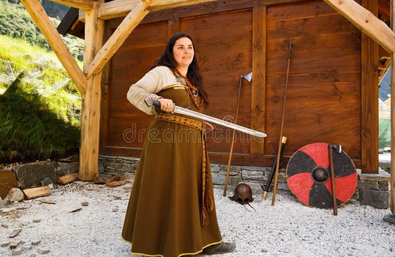 Женщина Викинга стоковое изображение rf
