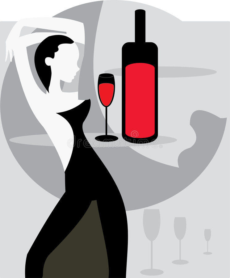 Download женщина вина иллюстрация штока. иллюстрации насчитывающей кавказско - 6866018
