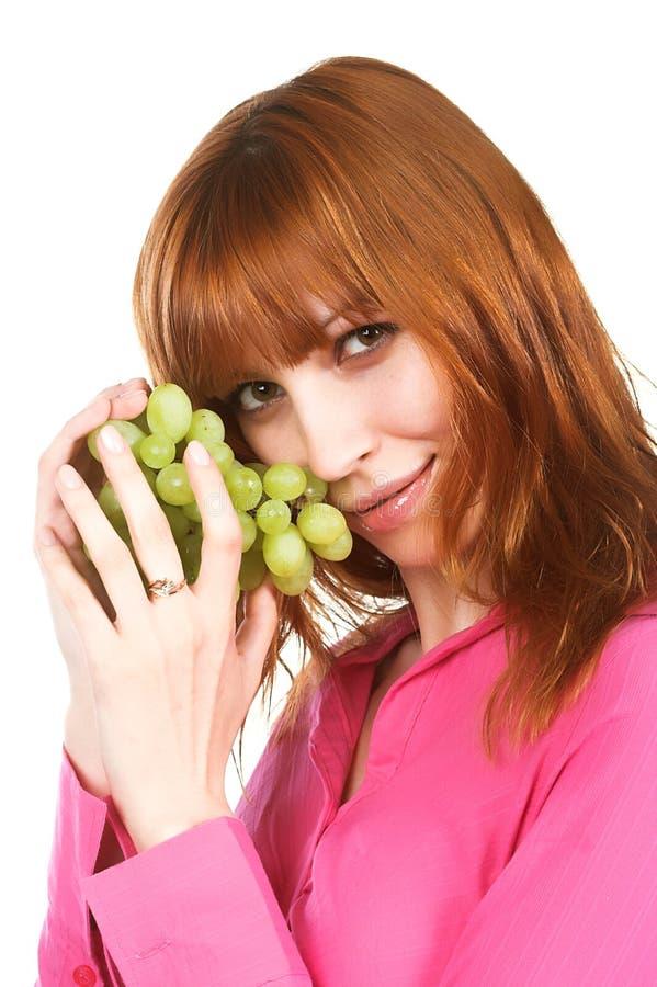 женщина виноградины стоковые изображения rf