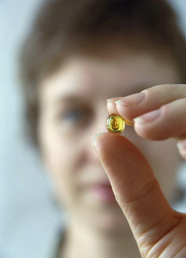 женщина витамина стоковая фотография