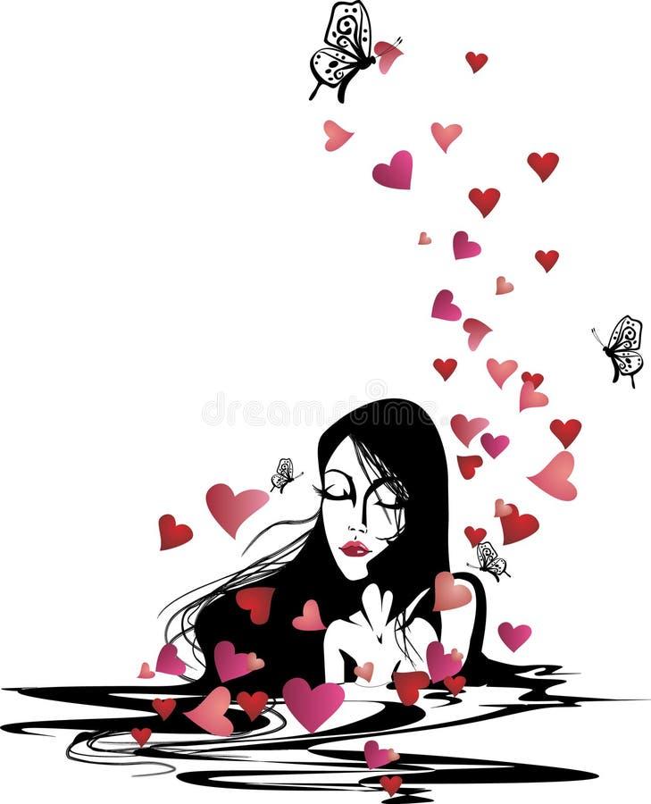 женщина влюбленности стоковая фотография