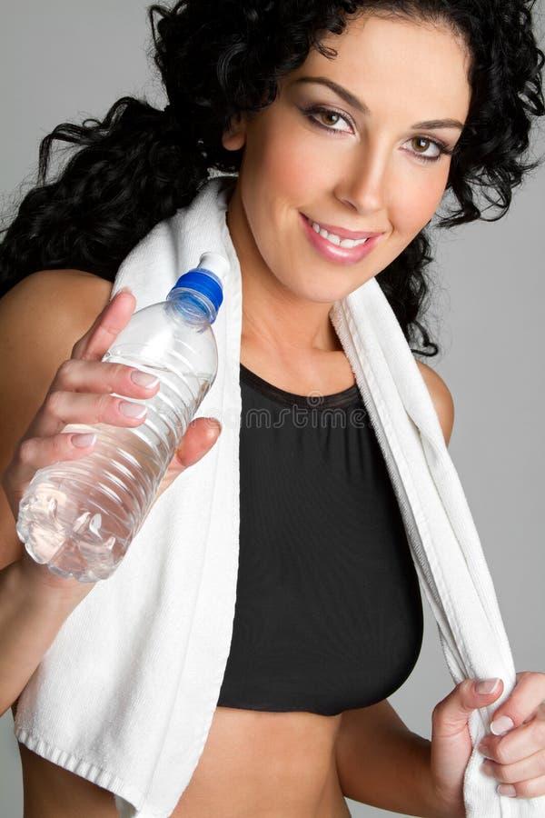 женщина воды бутылки стоковое изображение rf