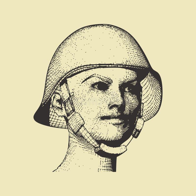 женщина военной формы иллюстрация штока
