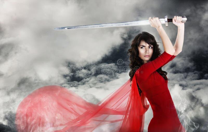 женщина воина стоковые изображения