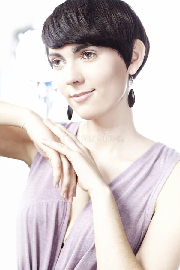 женщина волос короткая стоковая фотография