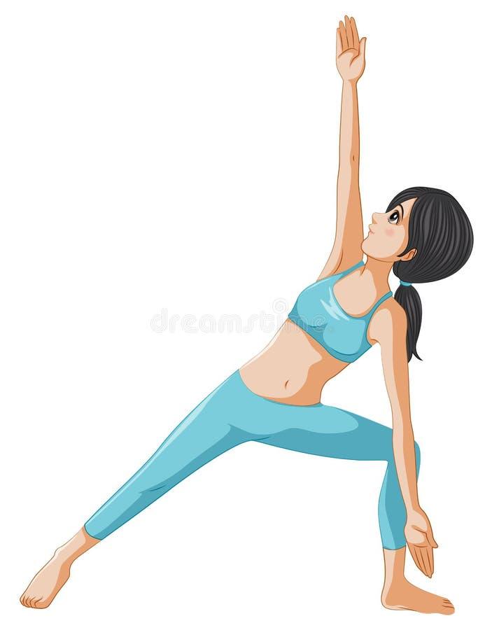 Женщина выполняя йогу бесплатная иллюстрация