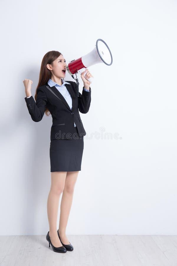 женщина выражения дела разочарованная кричащая стоковое изображение rf