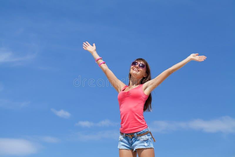 Женщина в лете стоковое фото