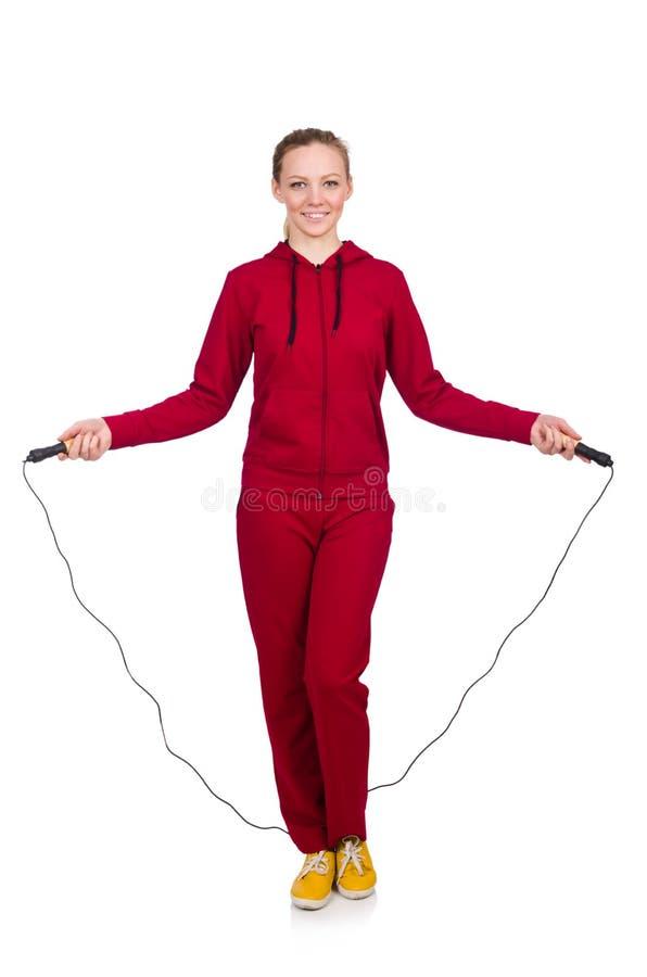 Женщина в концепции спорт стоковые изображения rf