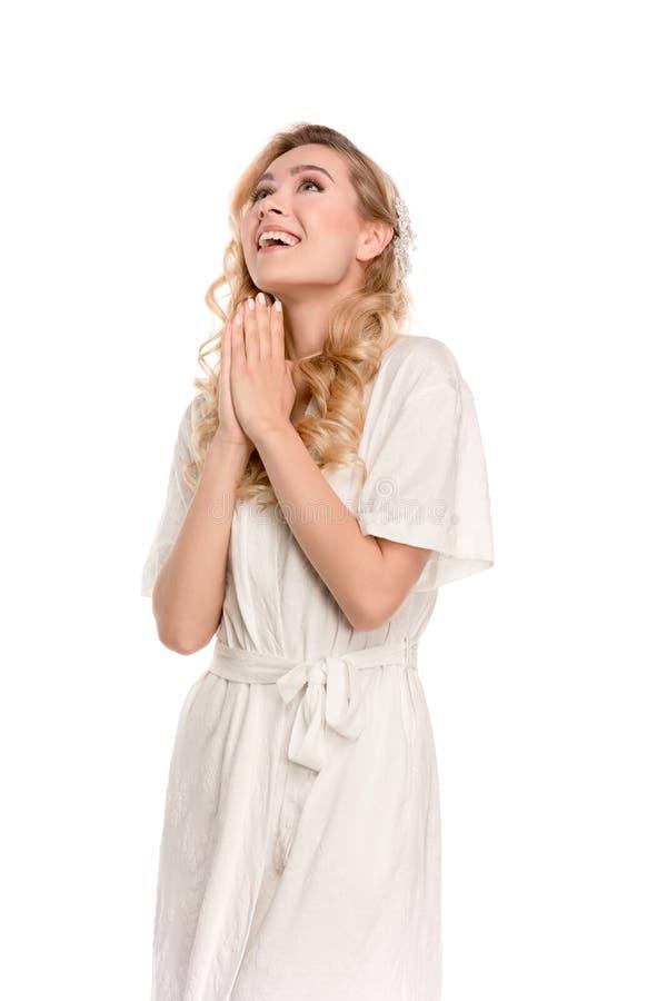 Женщина в молить робы стоковые фотографии rf