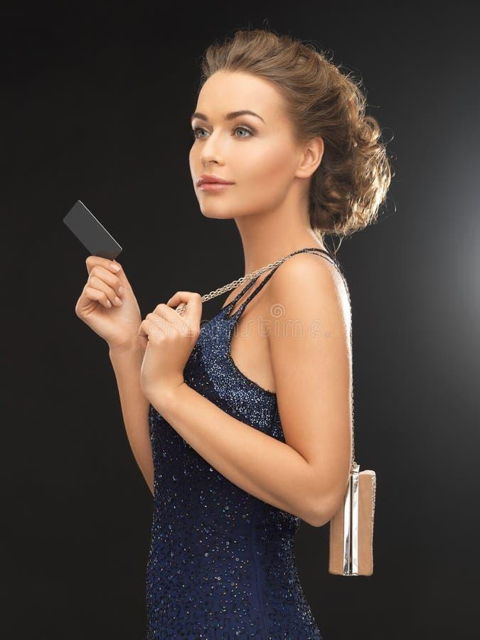 Женщина в платье вечера стоковые фотографии rf