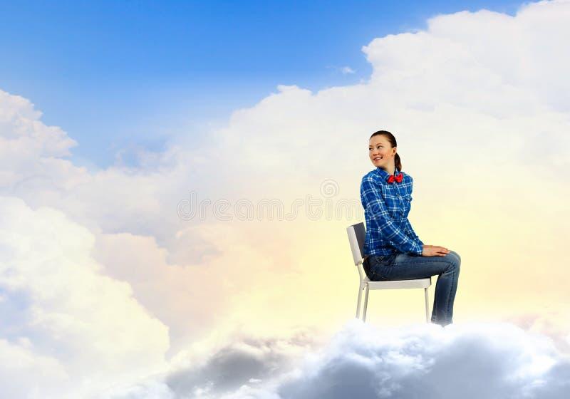 Женщина в рае стоковое изображение