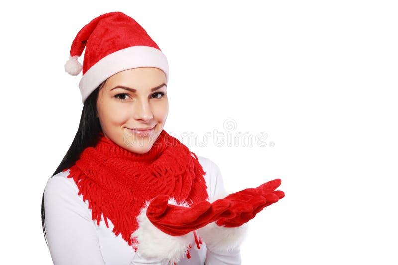 Женщина в рождестве стоковое изображение rf