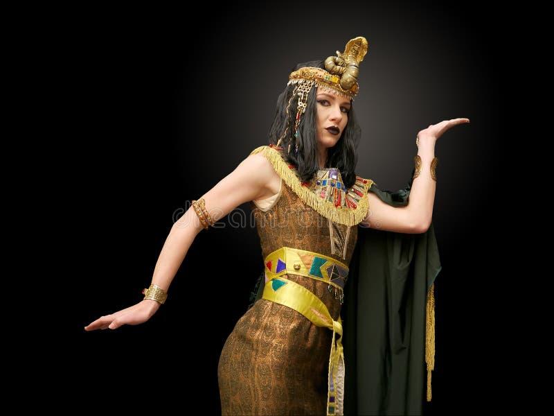 Женщина в типе Cleopatra стоковое изображение