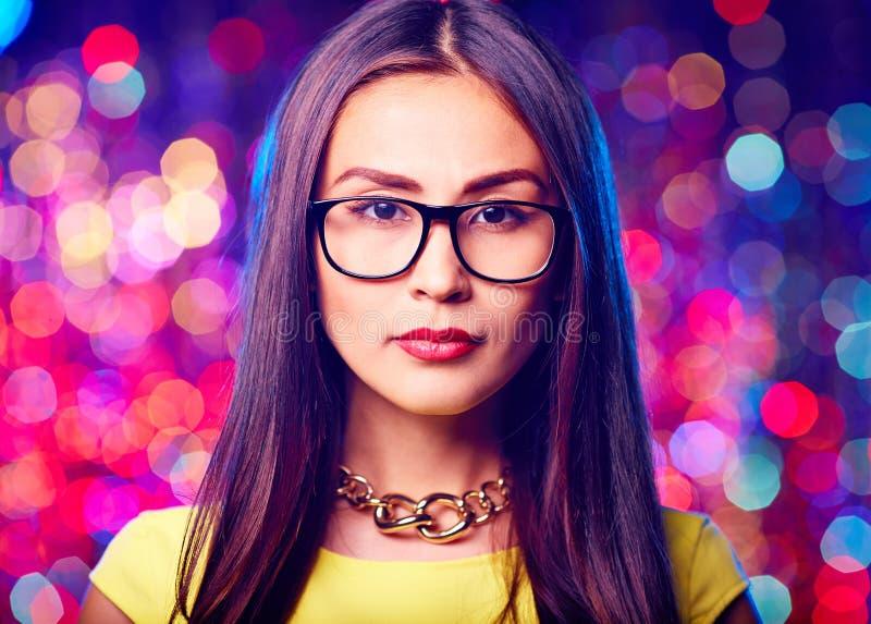 Женщина в eyeglasses стоковое фото rf