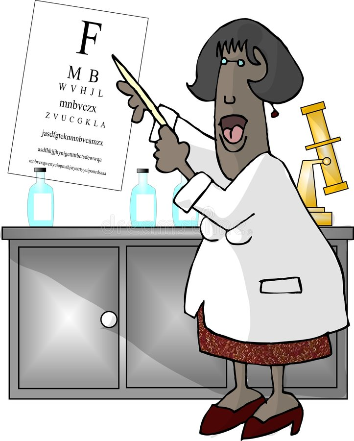 женщина глаза доктора иллюстрация вектора