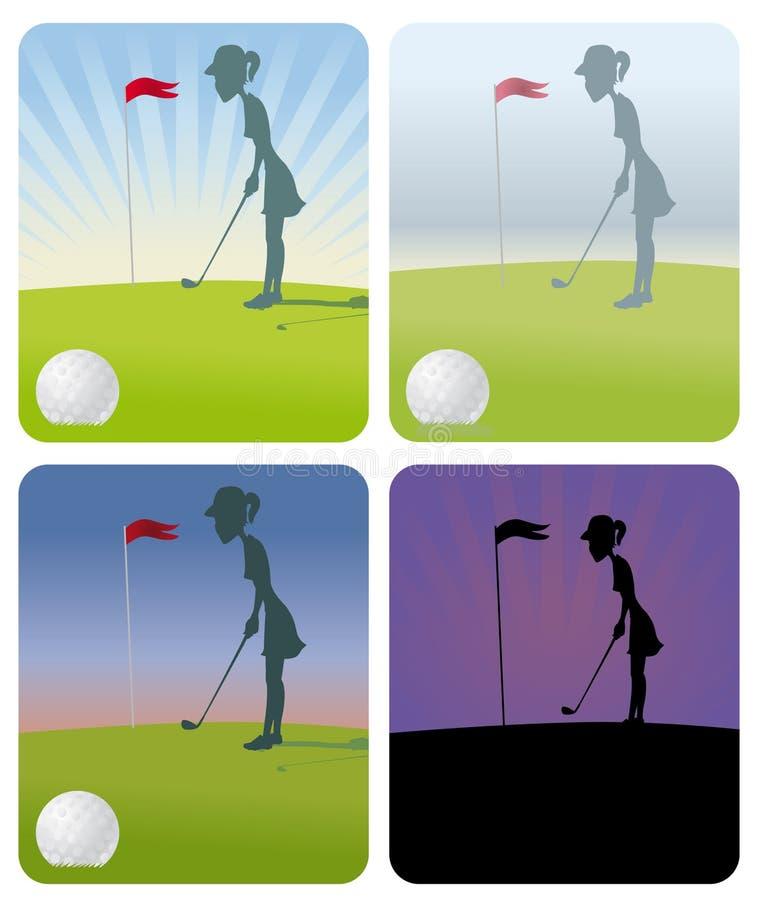 женщина гольфа иллюстрация вектора