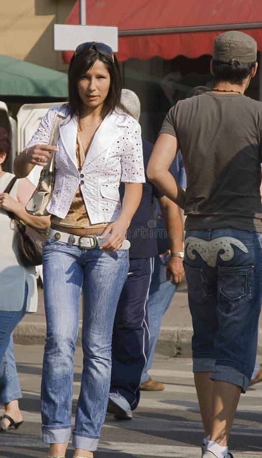 женщина города стоковые изображения rf