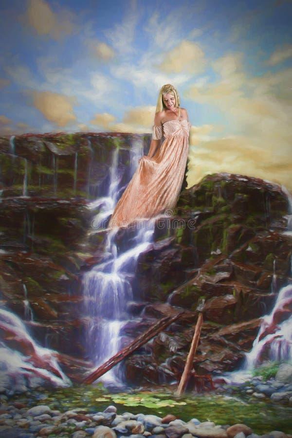 Женщина горы стоковое изображение rf