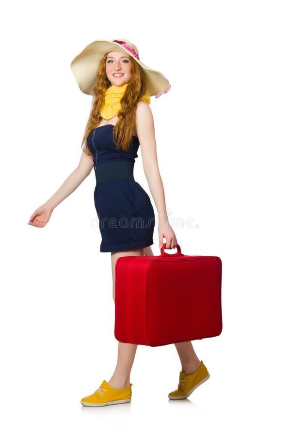 Женщина готовая на летний отпуск стоковые фотографии rf
