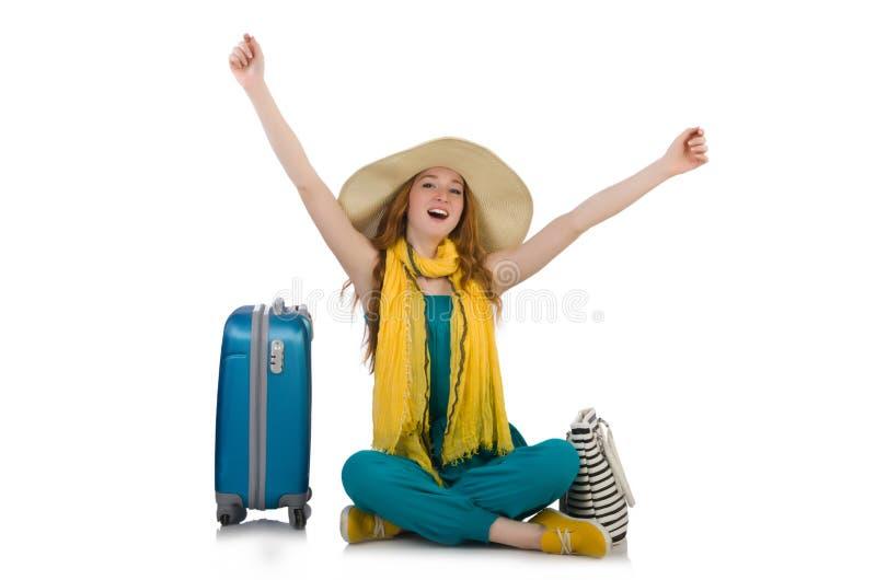 Женщина готовая на летний отпуск стоковая фотография