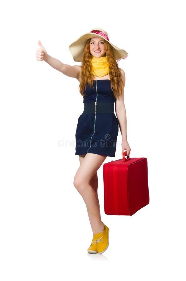 Женщина готовая на летний отпуск стоковое изображение