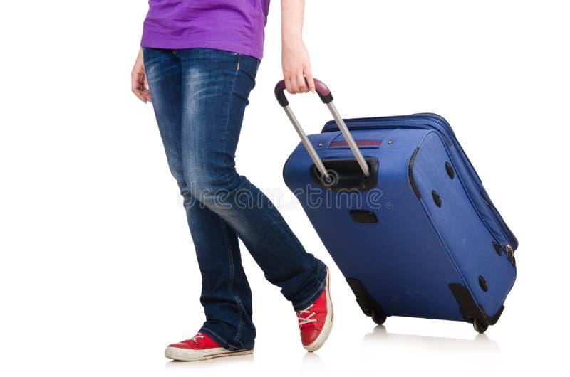 Женщина готовая на изолированный летний отпуск стоковые изображения rf