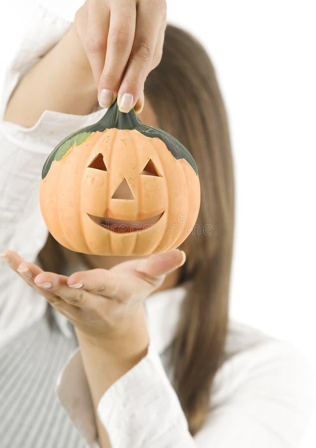 Женщина готовая на хеллоуин стоковые фотографии rf
