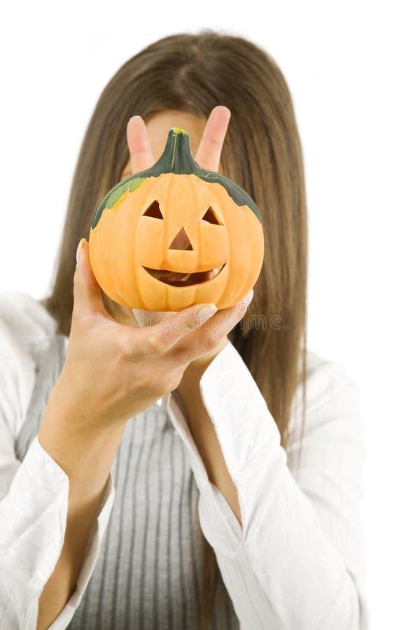 Женщина готовая на хеллоуин стоковое изображение rf