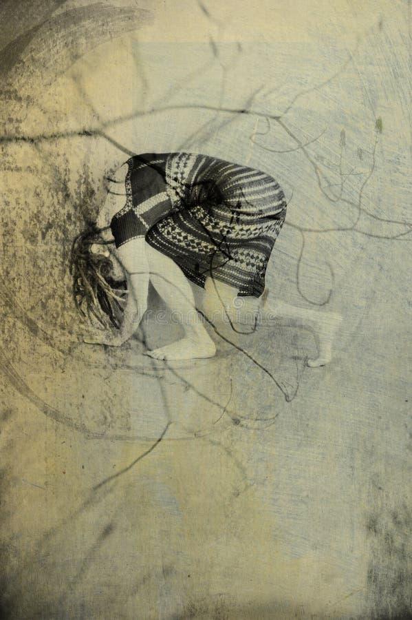 женщина движения иллюстрация вектора