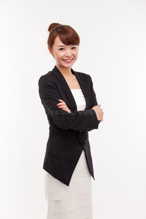 Женщина дела детенышей довольно азиатская стоковое изображение rf