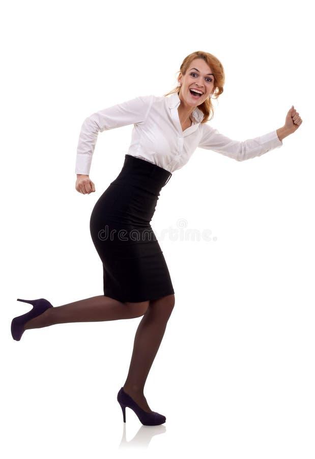 женщина дела идущая стоковые изображения rf