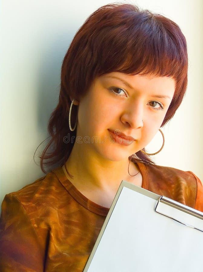 Download женщина дела милая стоковое изображение. изображение насчитывающей над - 650201