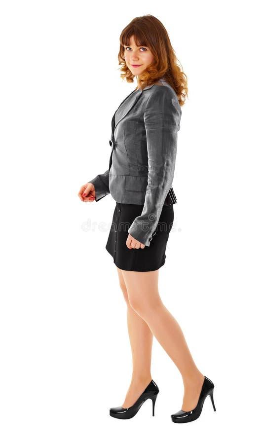 женщина дела одетьнная одеждой белая стоковое фото rf