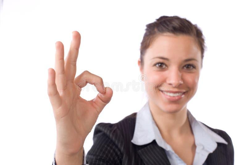 женщина дела одобренная стоковая фотография