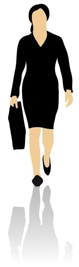 женщина дела передняя гуляя бесплатная иллюстрация