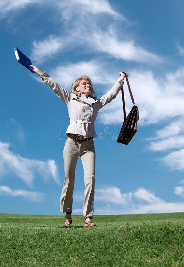 женщина дела успешная стоковая фотография rf