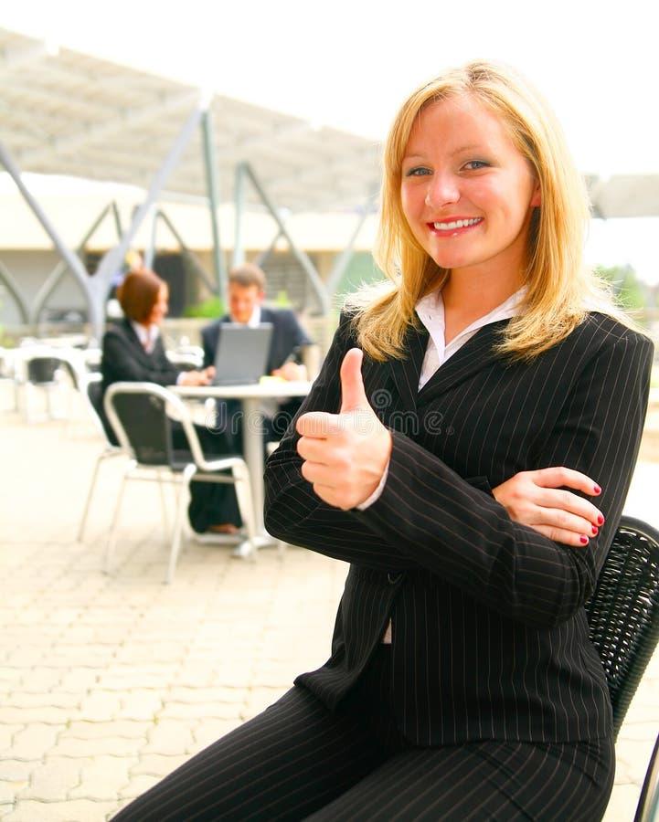 женщина дела успешная стоковая фотография
