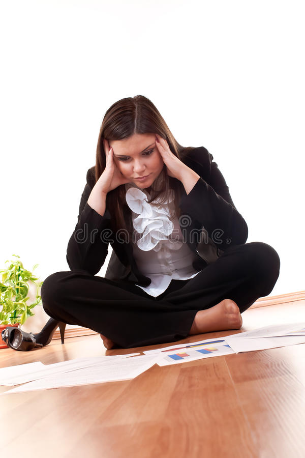 женщина дела concerned стоковое фото rf