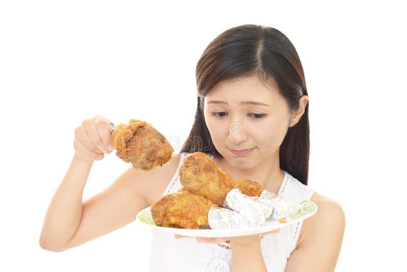 Женщина на диете стоковые изображения rf