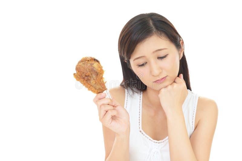 Женщина на диете стоковая фотография rf